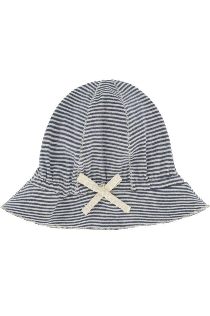 Gray Label Baby Sun Hat Blue Grey/White Stripe_1