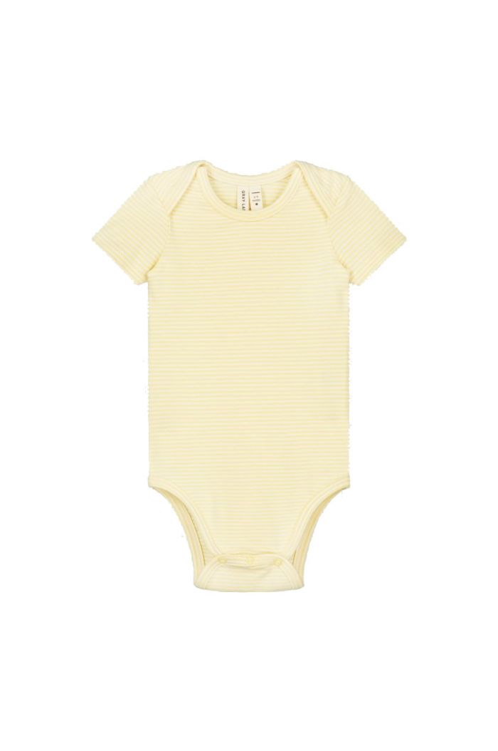 Gray Label Baby Onesie Mellow Yellow_1