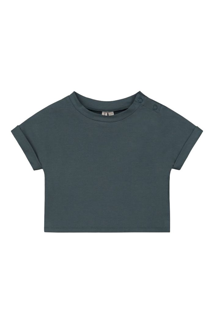 Gray Label Roll up Tee Blue Grey_1