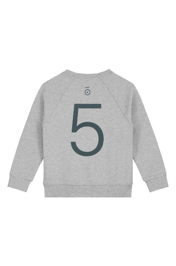 Gray Label Anniversary Sweater  Grey Melange -- 5 yr_1