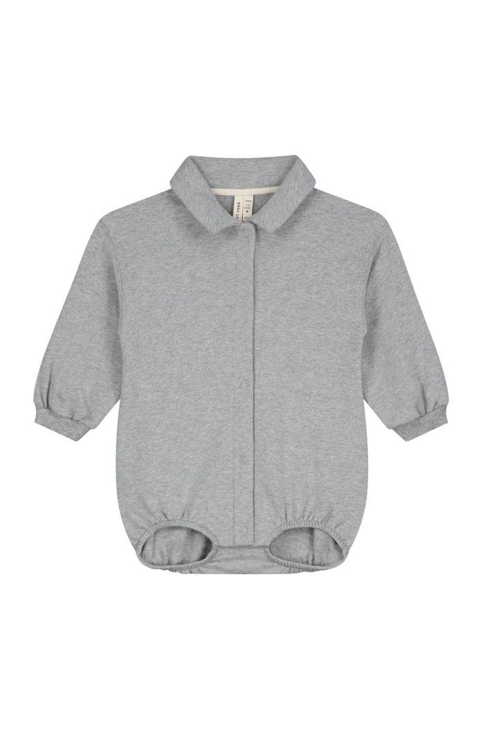 Gray Label Baby Bodysuit Grey Melange_1