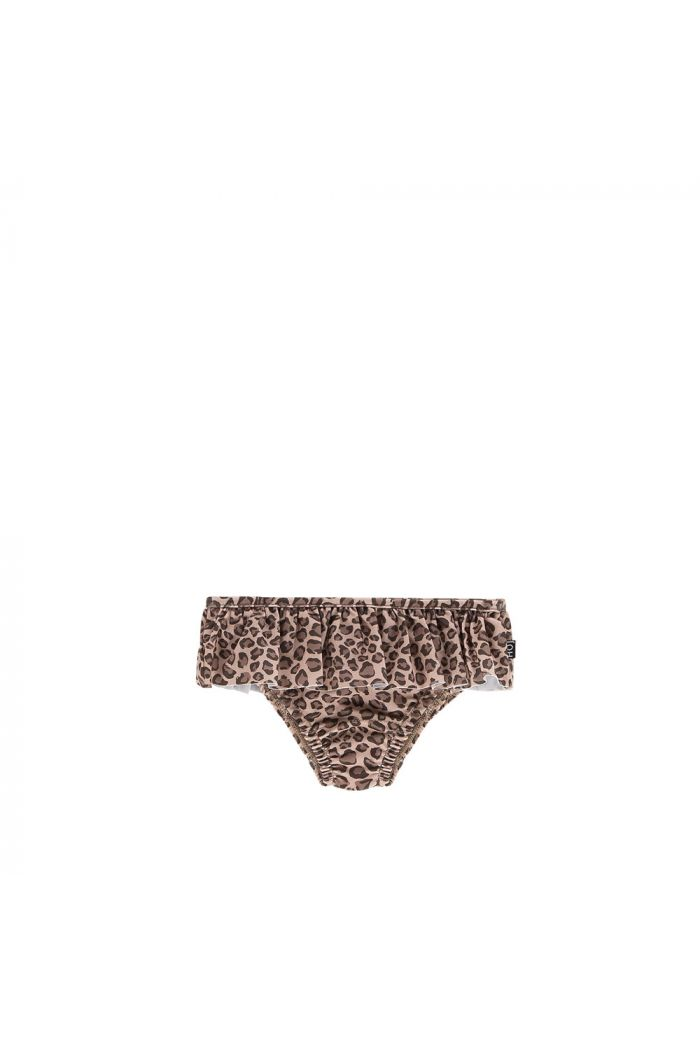 House Of Jamie Fringe Bikini Bottom Caramel Leopard