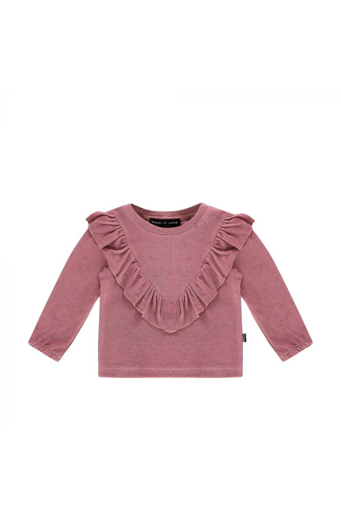 House Of Jamie Front Ruffled Sweater Orchid Terry