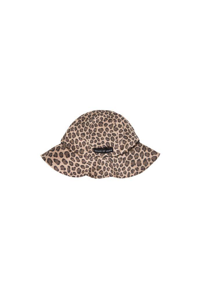 House Of Jamie Girls Sun Hat Caramel Leopard