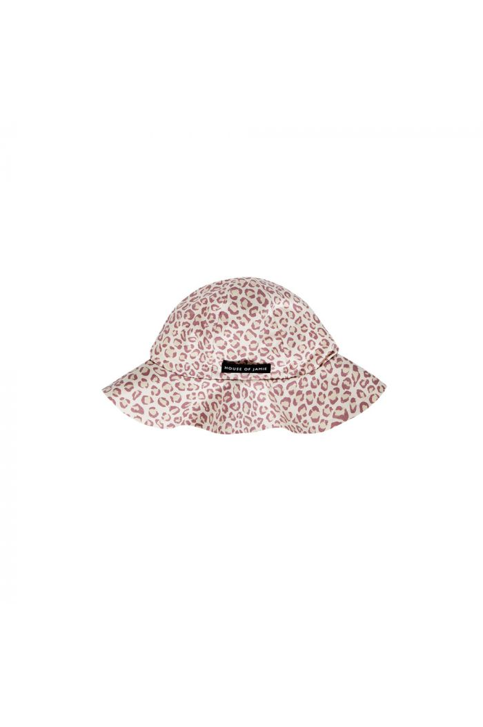 House Of Jamie Girls Sun Hat Orchid Leopard