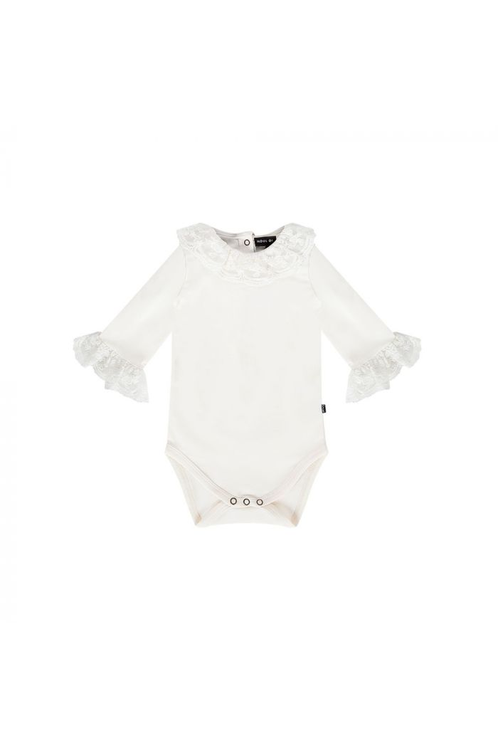House Of Jamie Lace Collar Bodysuit Cream & Lace_1