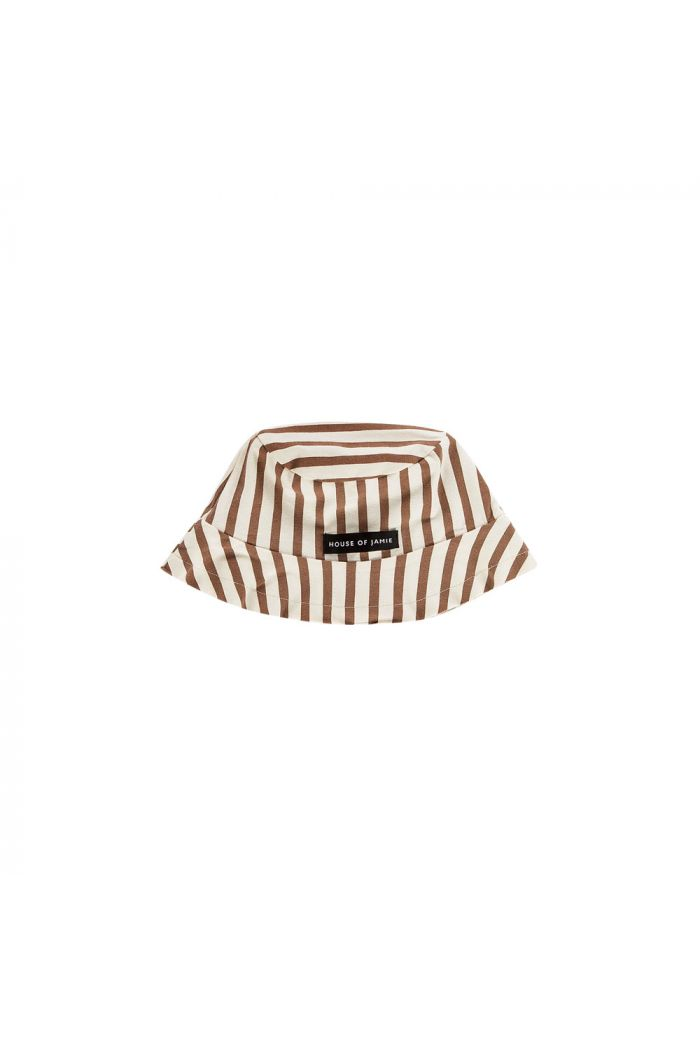 House Of Jamie Summer Hat Toffee Stripes
