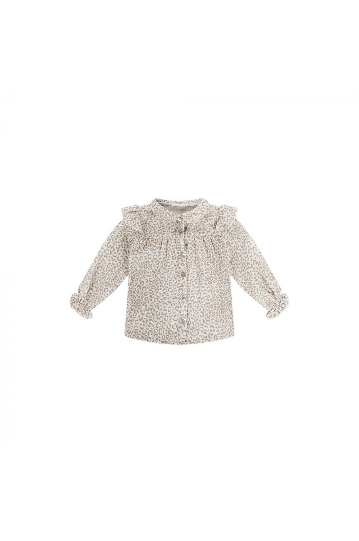 House Of Jamie Frill Blouse Cream Leopard_1