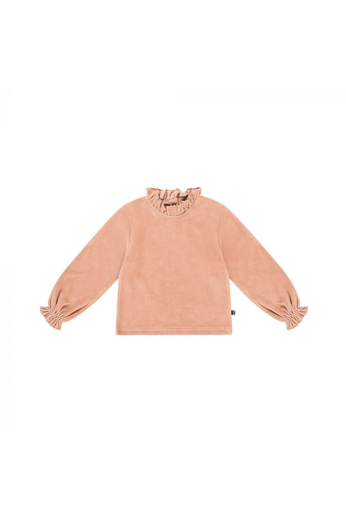 House Of Jamie Frill Collar Jumper Terra blush velvet_1