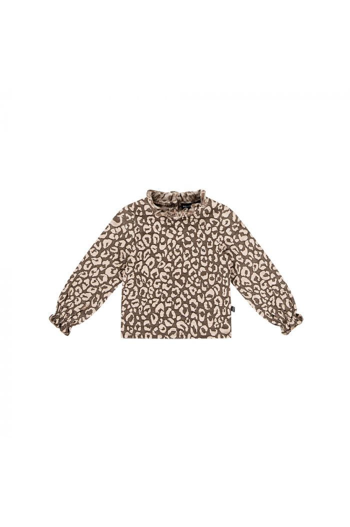 House Of Jamie Frill Collar Jumper Rosewood leopard_1