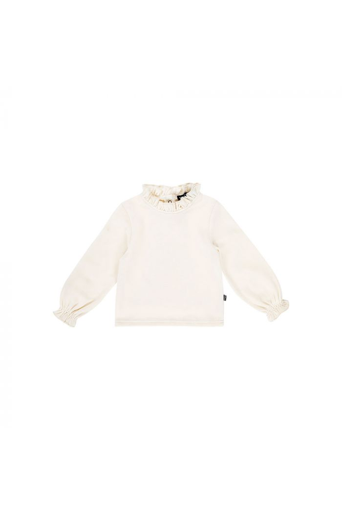 House Of Jamie Frill Collar Jumper Cream velvet_1