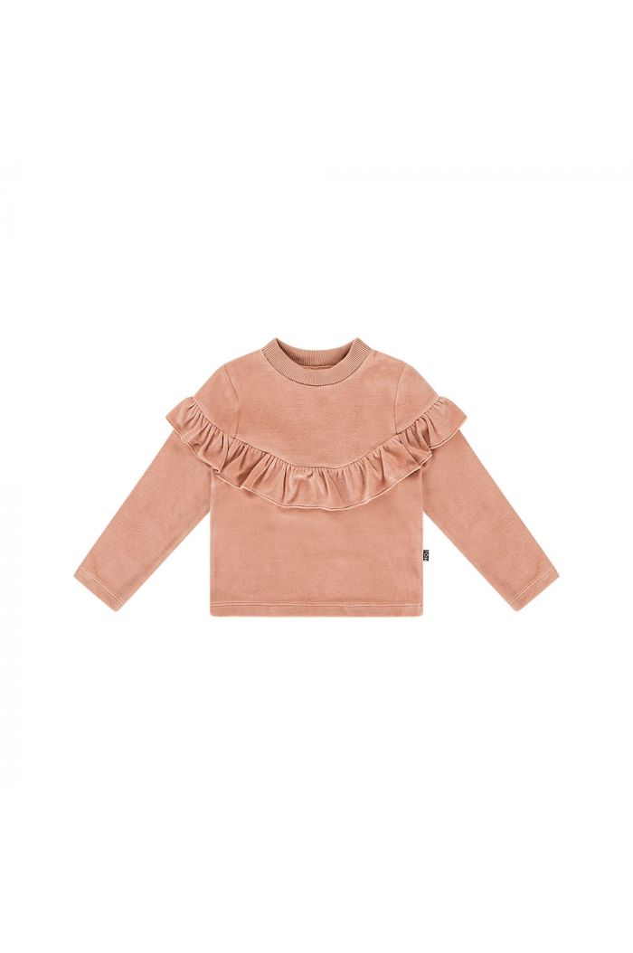 House Of Jamie Volant Sweater Terra blush velvet_1