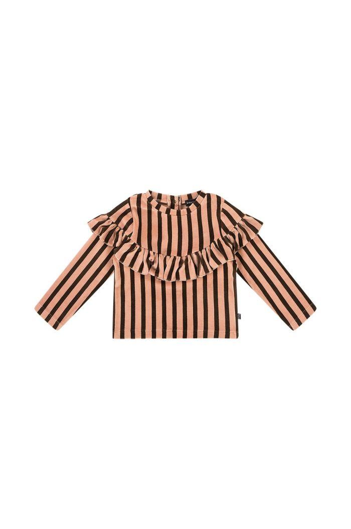 House Of Jamie Volant Sweater Blush & choco stripes velvet_1
