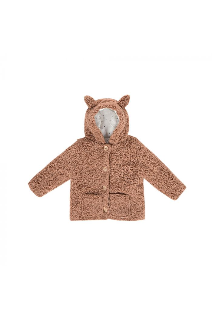 House Of Jamie Teddie Hooded Jacket Fox Hazel_1