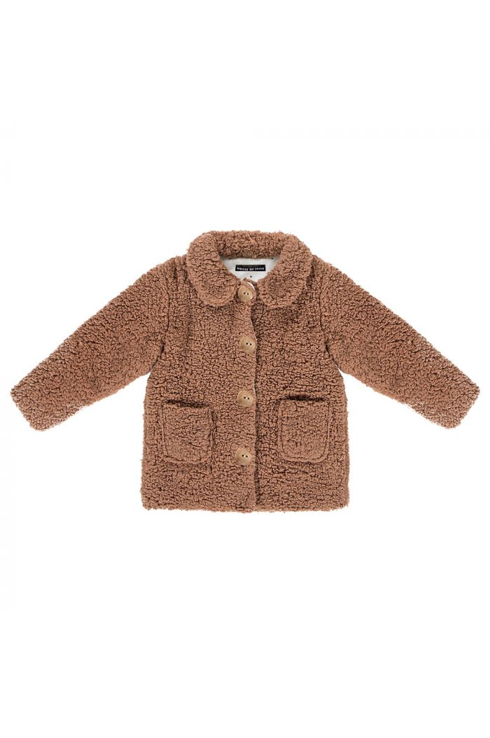 House Of Jamie Teddie Collar Coat Hazel_1