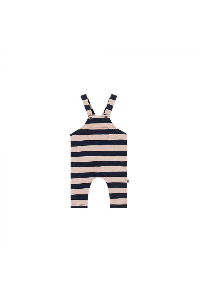 House Of Jamie Dungaree Biscuit & blue stripes_1