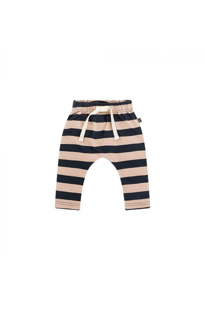 House Of Jamie Baby Pants Biscuit & blue stripes_1
