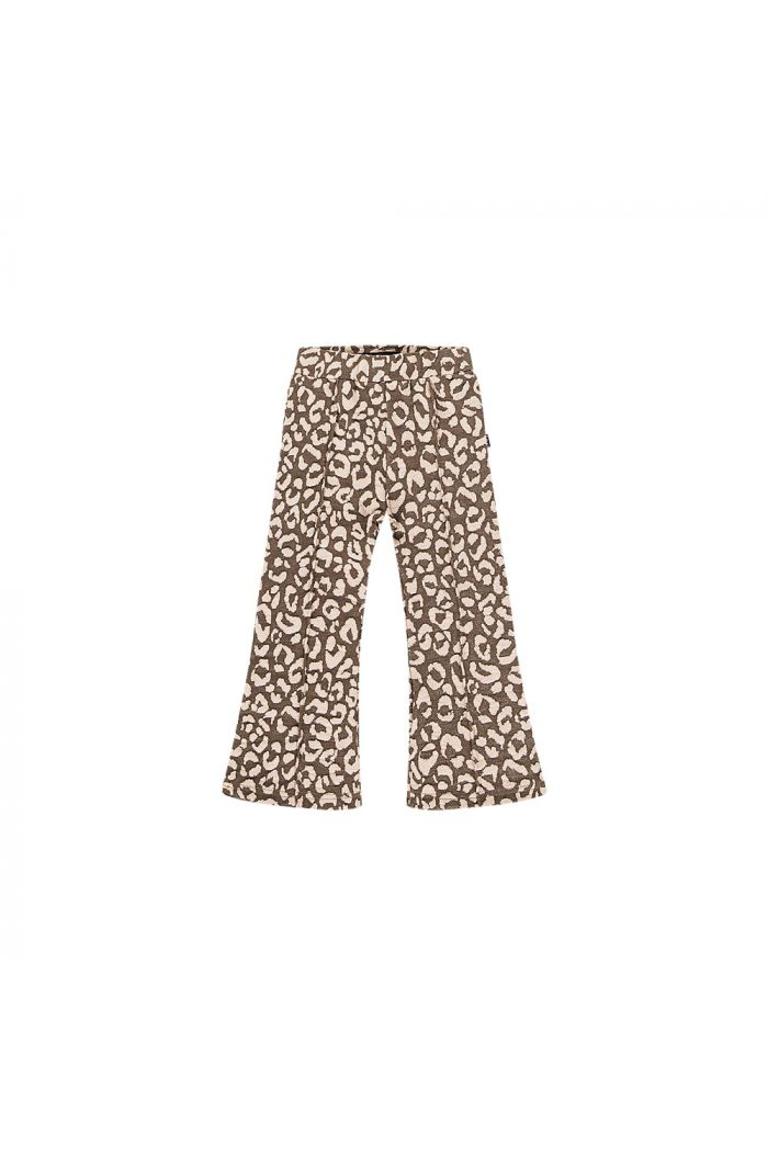 House Of Jamie Flared Pants Rosewood leopard_1