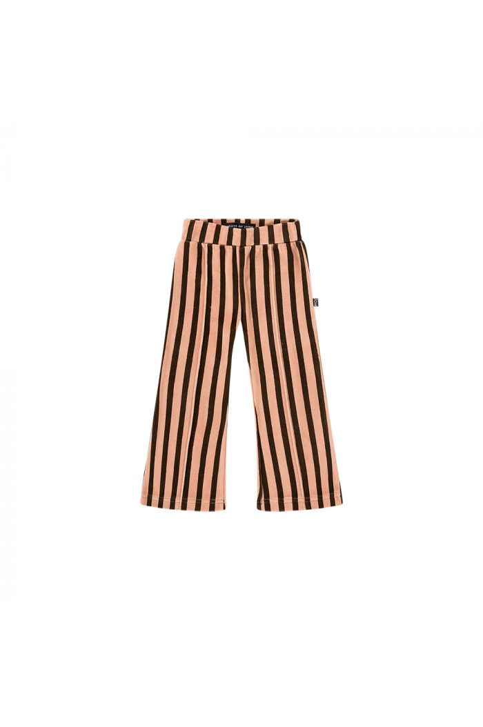House Of Jamie Flared Pants Blush & choco stripes velvet_1