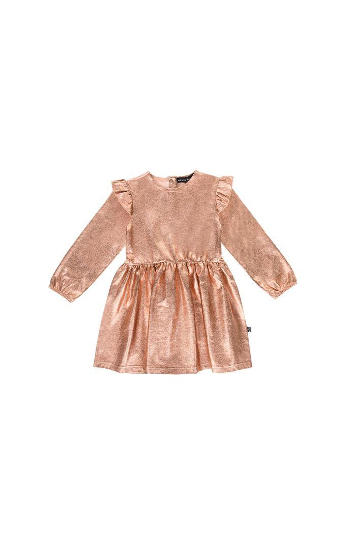 House Of Jamie Metallic Dress Rose gold metallic_1