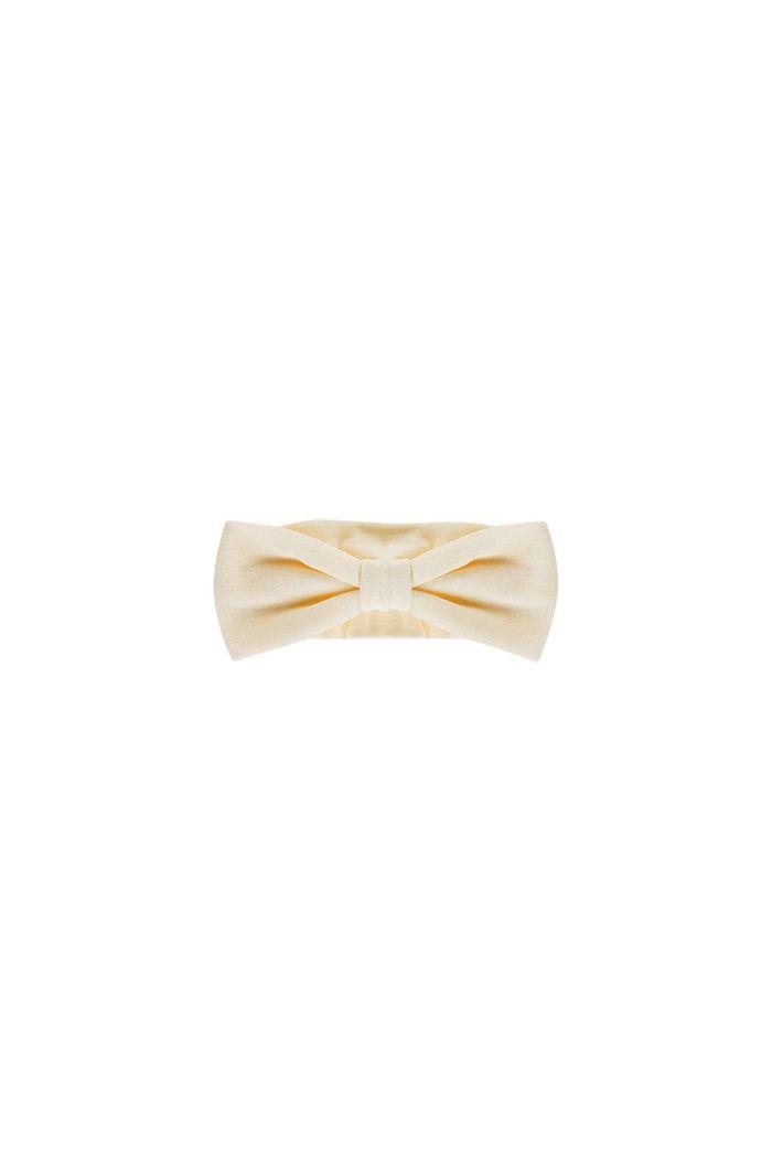 House Of Jamie Bow Tie Headband Cream velvet_1