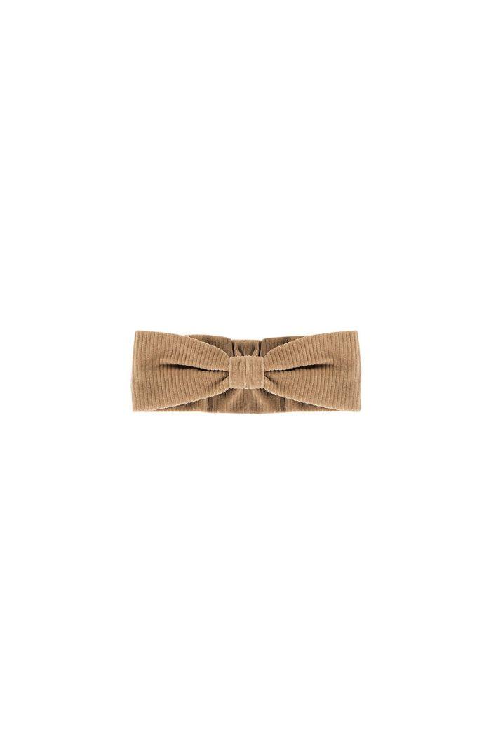 House Of Jamie Bow Tie Headband Biscuit rib velvet_1