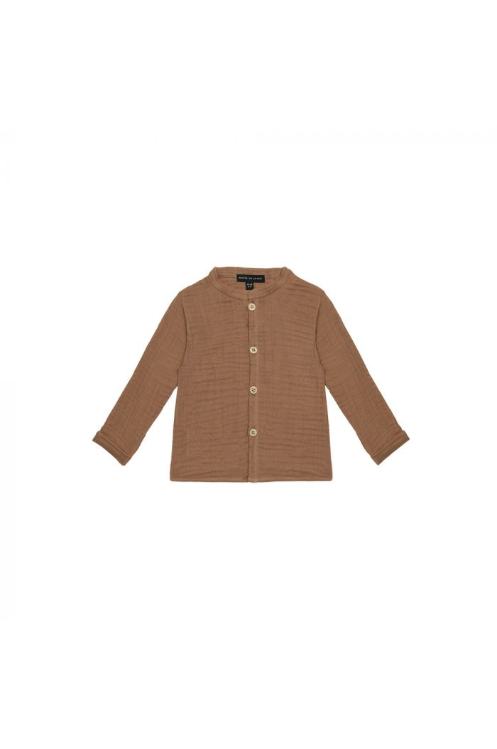 House Of Jamie Boys Collar Blouse Burnt Ginger _1