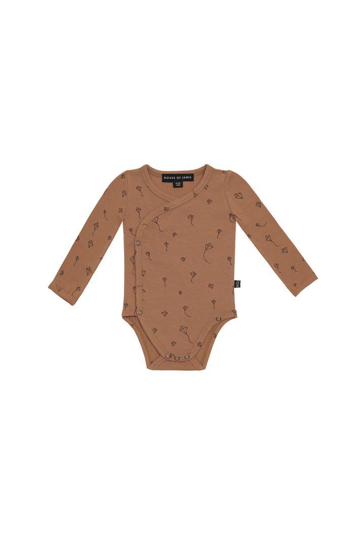 House Of Jamie Wrap Button Bodysuit Burnt Ginger Kites _1