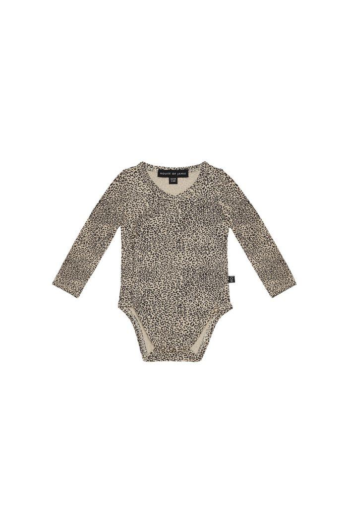 House Of Jamie Wrap Button Bodysuit Charcoal Little Leopard_1