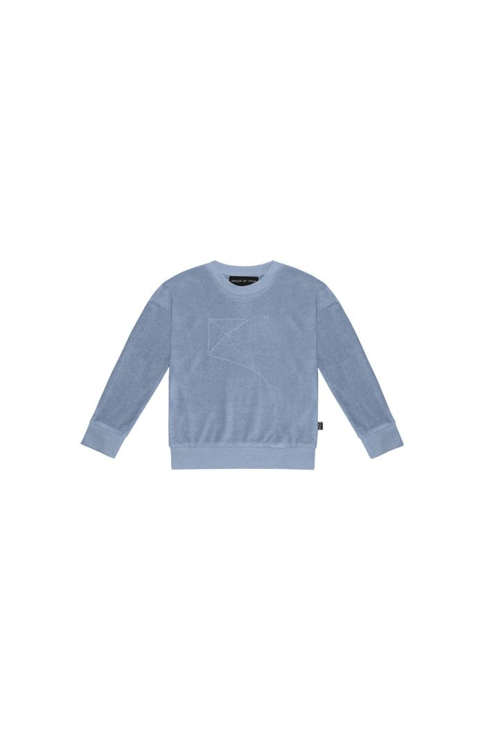 House Of Jamie Crewneck Sweater Faded Denim _1