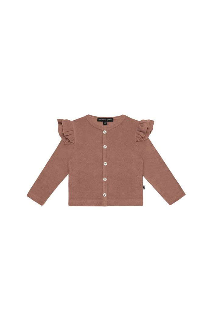House Of Jamie Girls Cardigan Baked Clay_1