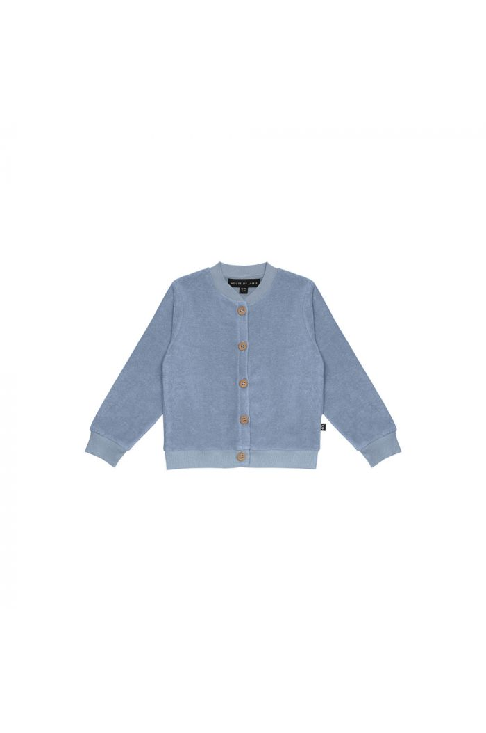 House Of Jamie Boys Button Cardigan Faded Denim _1
