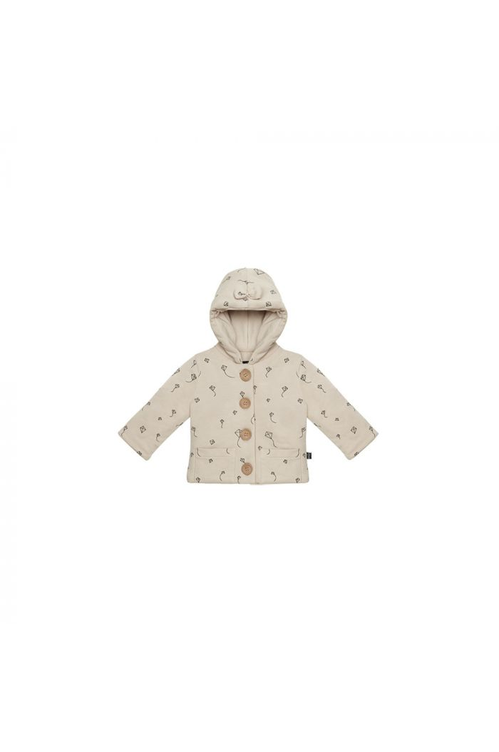 House Of Jamie Bow Tie Hooded Jacket Oatmeal Kites_1
