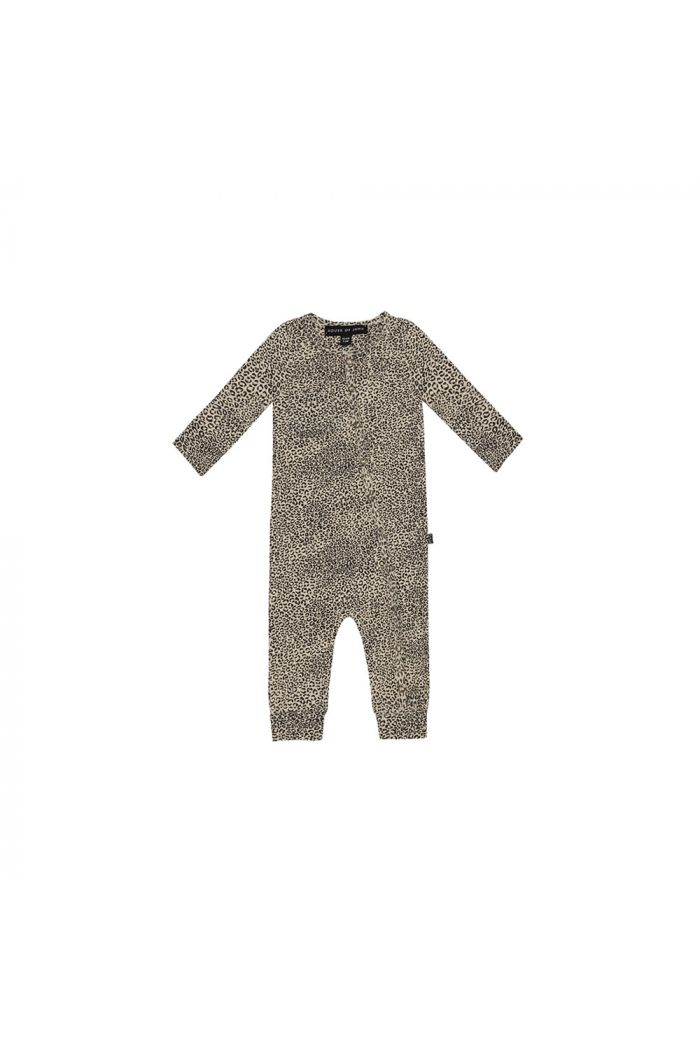 House Of Jamie Rib Button Jumpsuit Charcoal Little Leopard_1