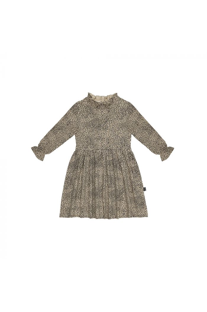 House Of Jamie Frill Collar Dress Charcoal Little Leopard_1