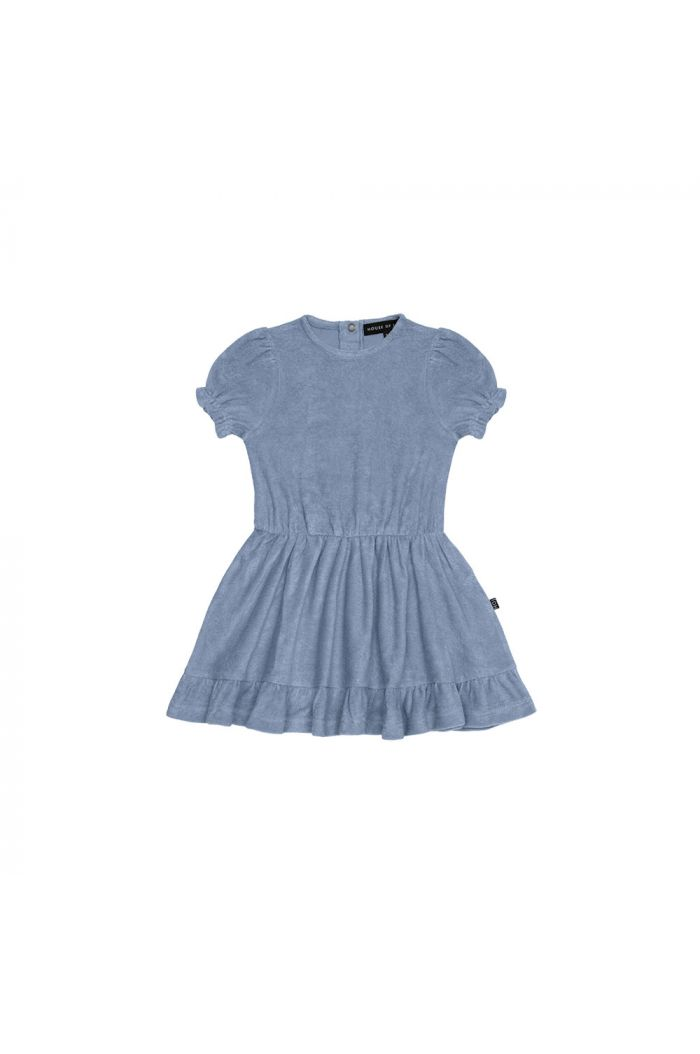House Of Jamie Frill Dress Faded Denim _1