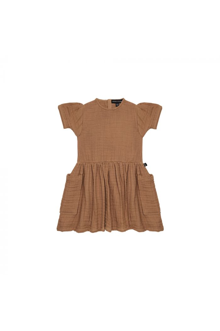 House Of Jamie Relaxed Pocket Dress Burnt Ginger _1