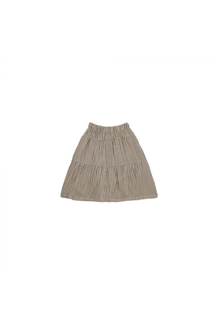 House Of Jamie Midi Skirt Charcoal Sheer Stripes_1