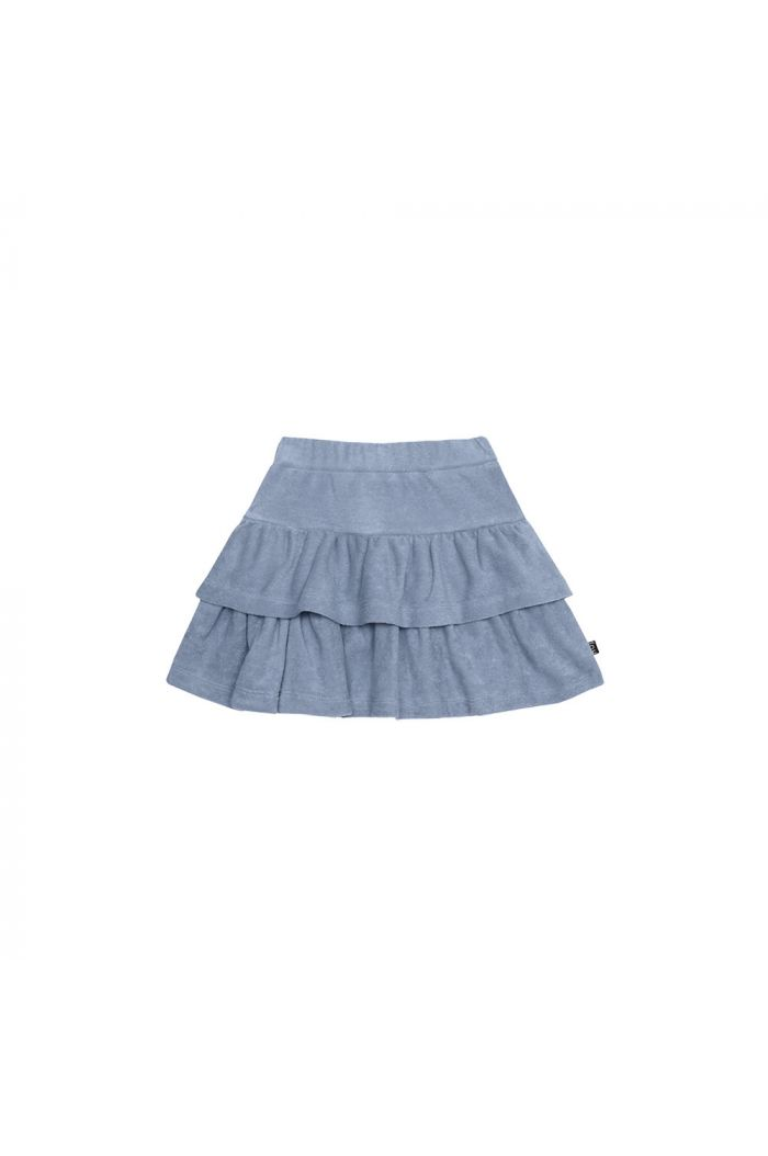 House Of Jamie Ruffled Skirt Faded Denim _1