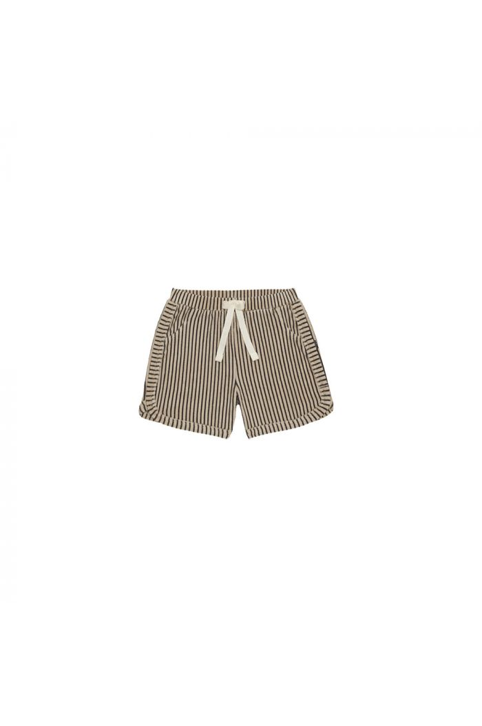House Of Jamie Gym Shorts Charcoal Sheer Stripes_1