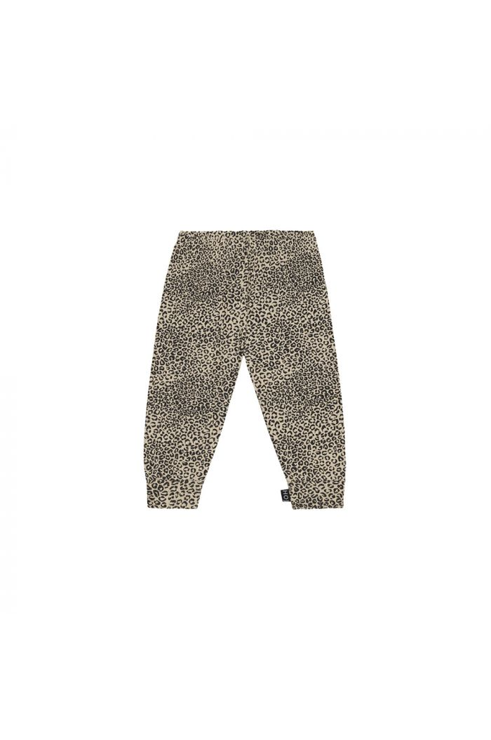 House Of Jamie Rib Legging Charcoal Little Leopard_1