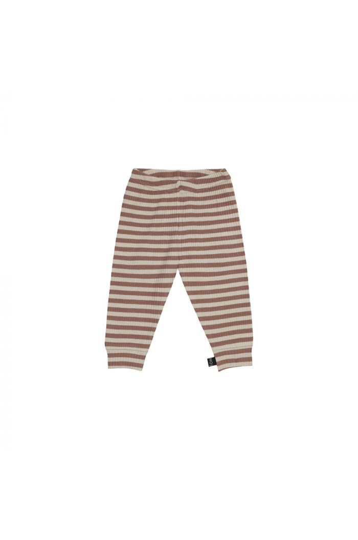 House Of Jamie Rib Legging Baked Clay Stripes _1