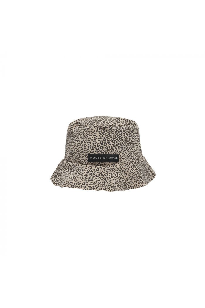 House Of Jamie Summer Hat Charcoal Little Leopard_1