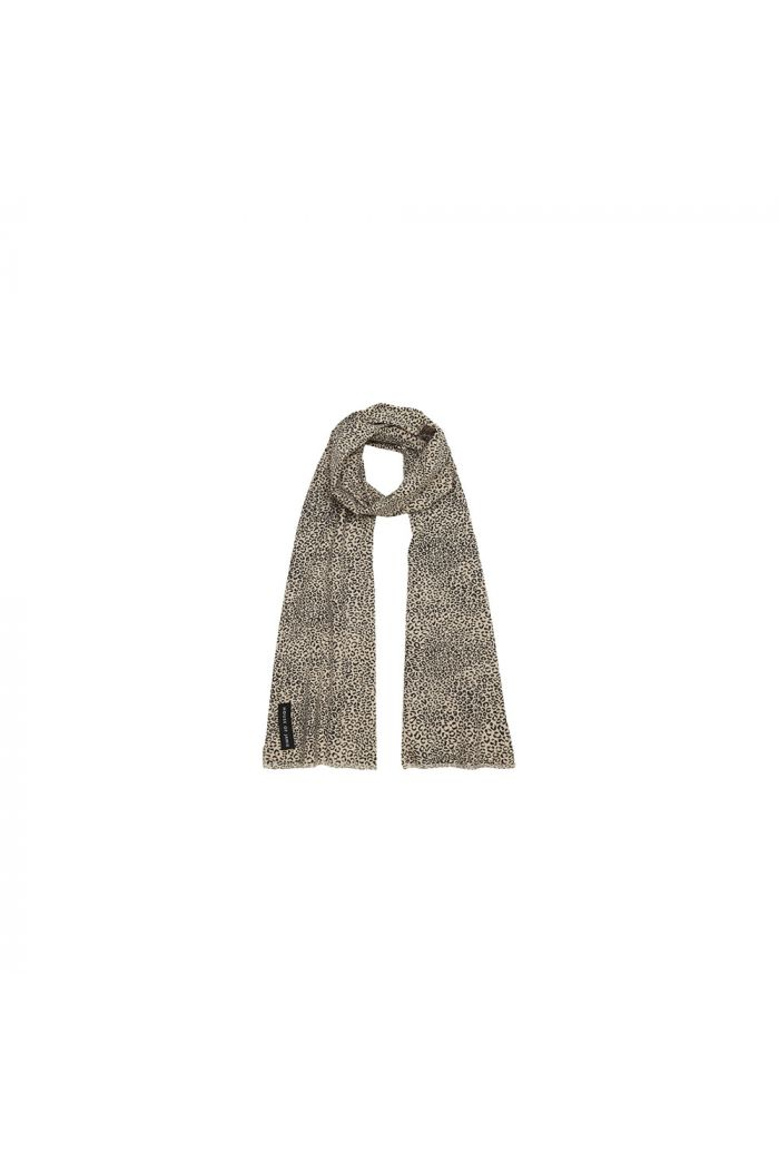 House Of Jamie Long Summer Scarf Charcoal Little Leopard_1