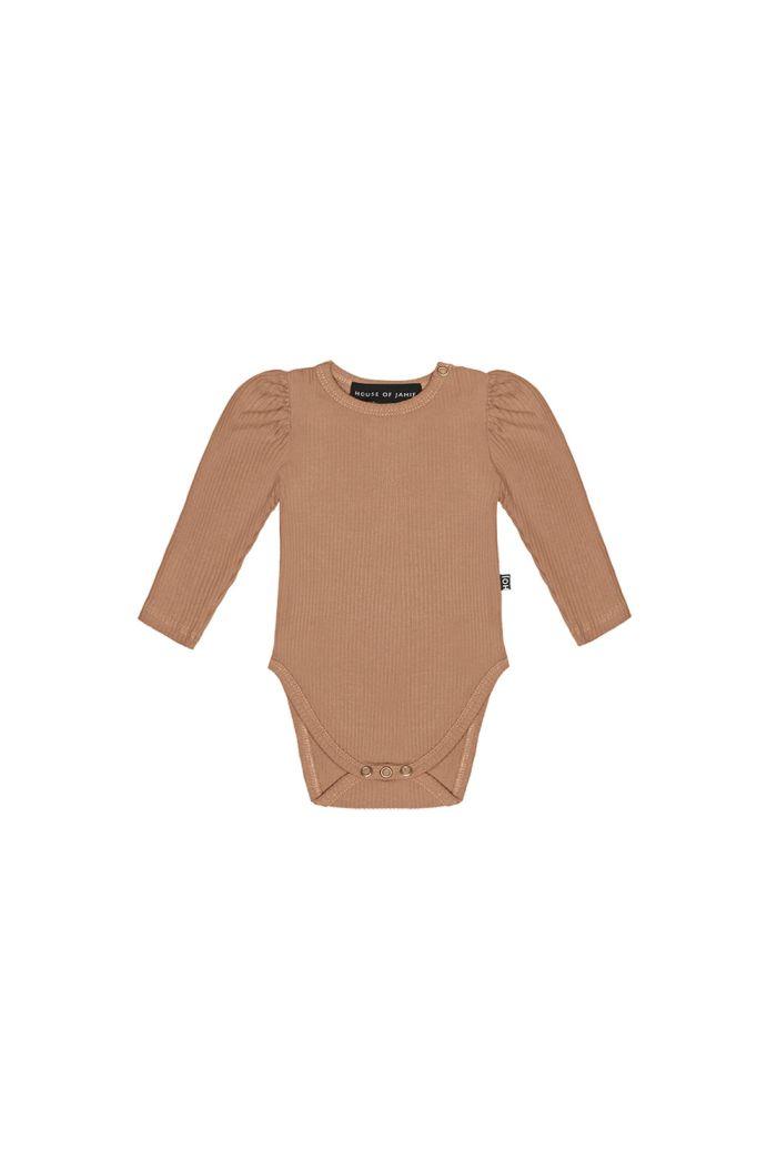 House Of Jamie Puff Shoulder Bodysuit Longsleeve Terra Blush_1