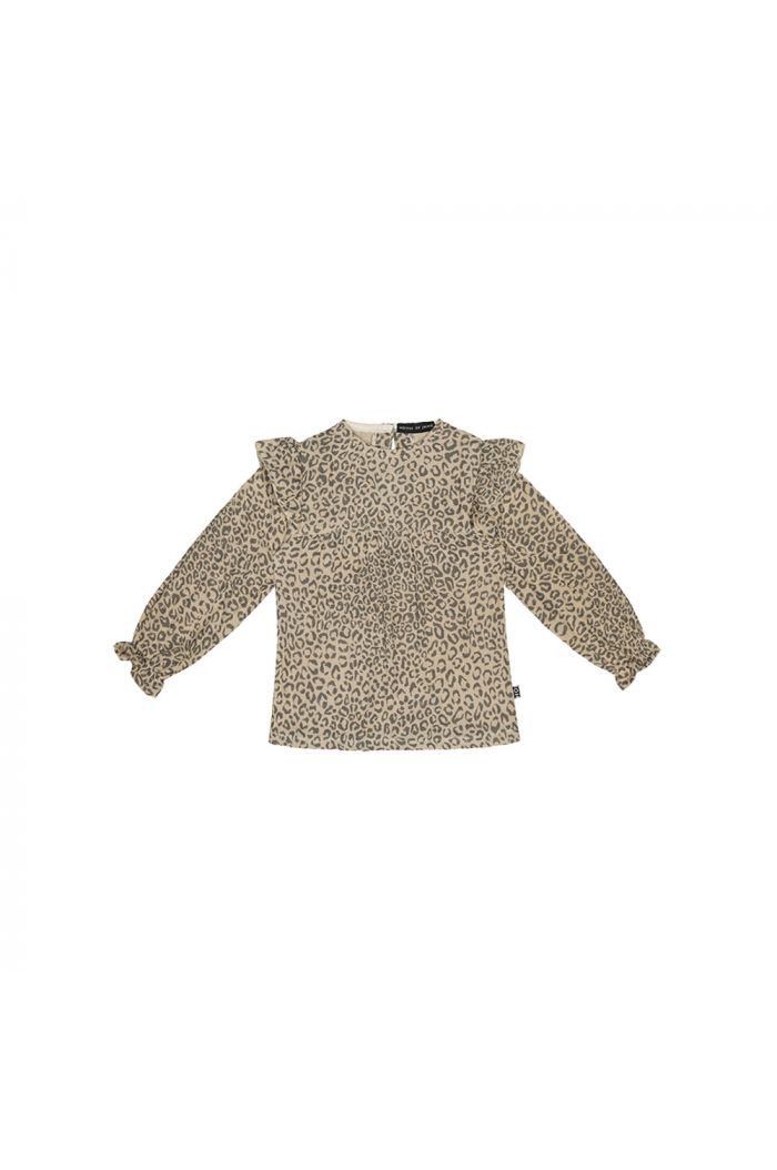 House Of Jamie Frill Tunic Charcoal Little Leopard_1