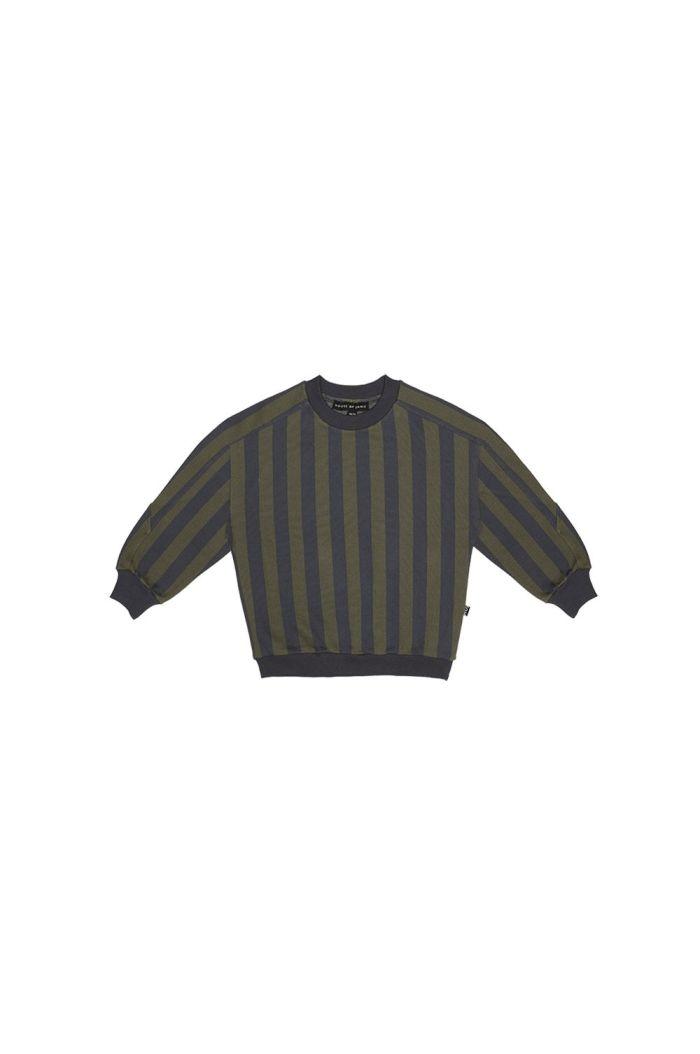 House Of Jamie Sweatshirt Moss & Blue Stripes_1