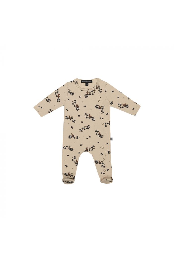 House Of Jamie Girls Babysuit Oatmeal Forest_1