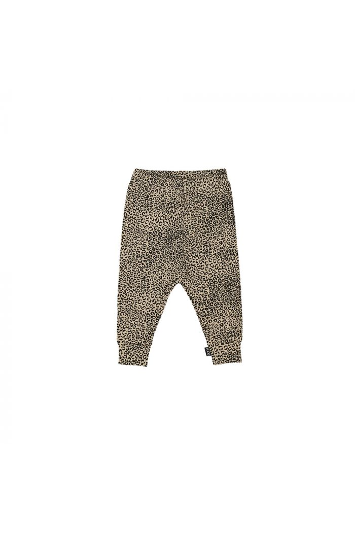 House Of Jamie Rib Leggings Charcoal Little Leopard_1