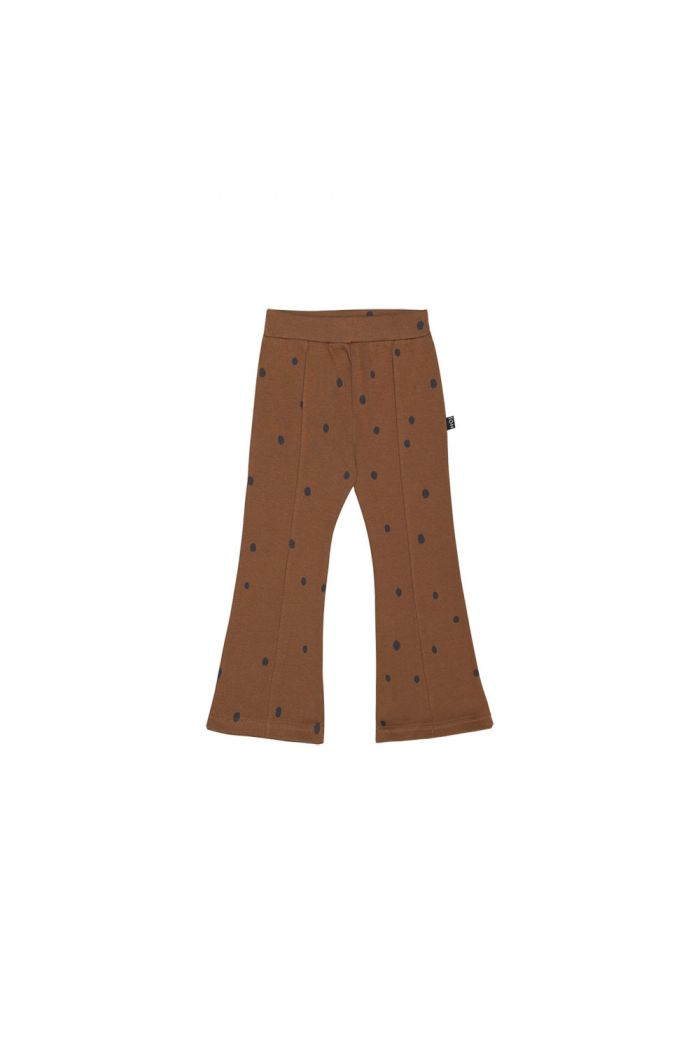 House Of Jamie Flared Pants Ginger Bread Dots_1
